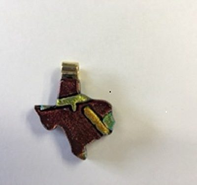Texas shaped dichroic pendant