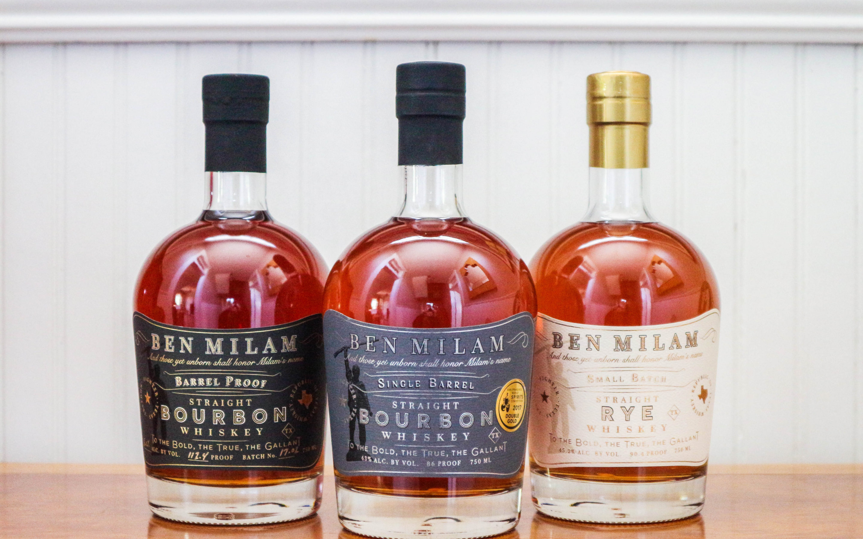 Blanco's Ben Milam Whiskey wins back-to-dack double gold at San Francisco World Spirits Competition
